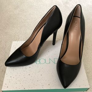 Abound Faux Leather Black Heels Size 9
